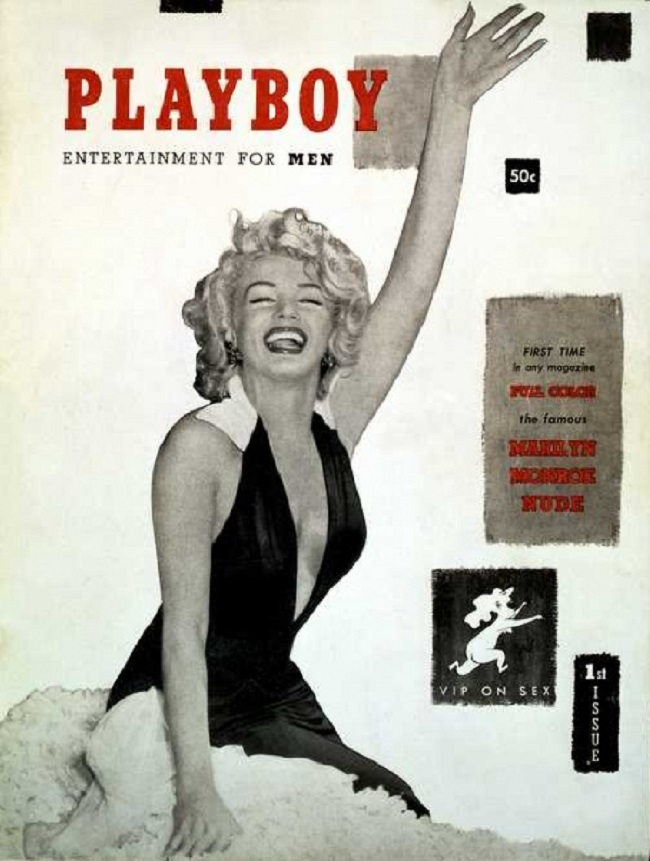 Playboy cover with Marilyn Monroe 1953