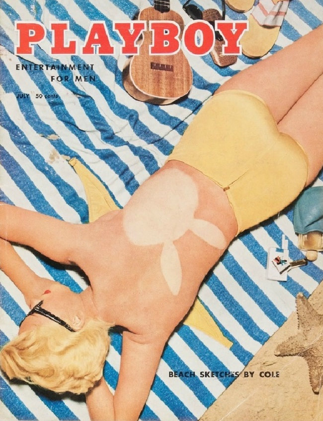 Playboy cover with Janet Pilgrim 1955