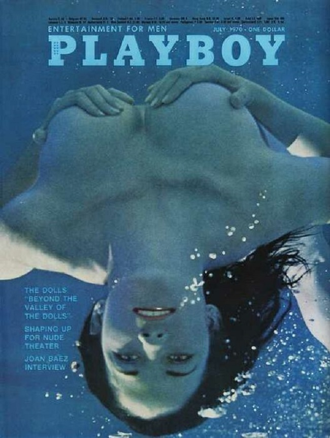 Playboy cover with Janet Wolf 1970