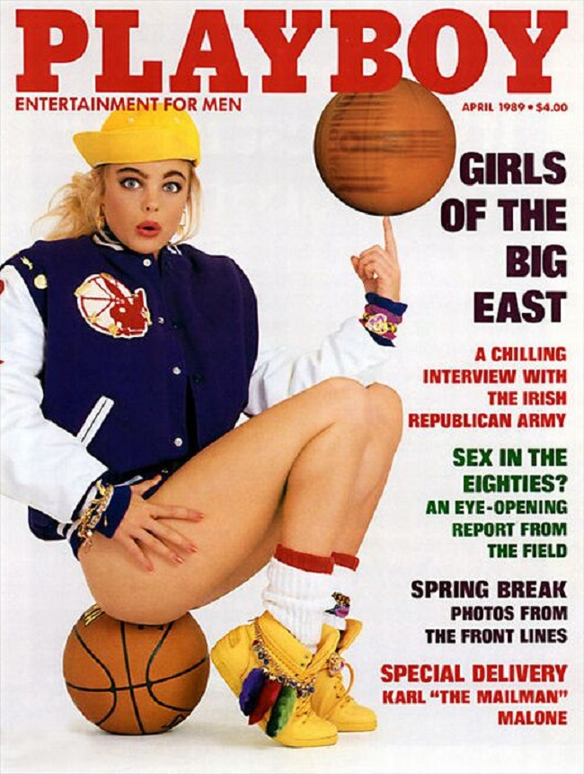 Playboy cover with Erika Eleniak 1989