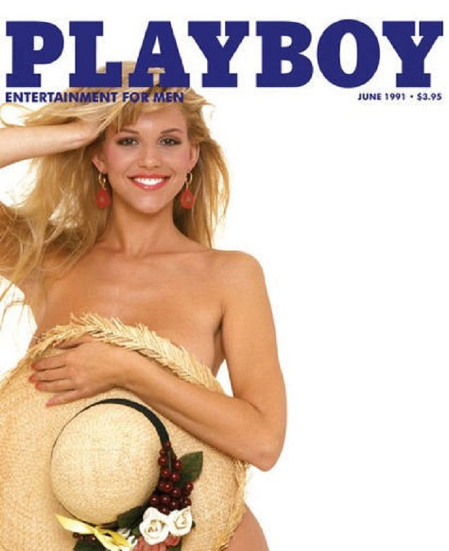 Playboy cover with Lisa Matthews 1991