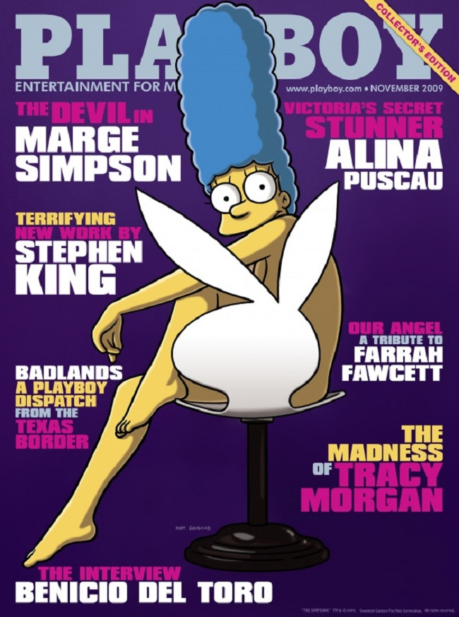 Playboy cover with Marge Simpson 2009